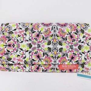 Waverly Cloth White Pink Black Floral Wallet